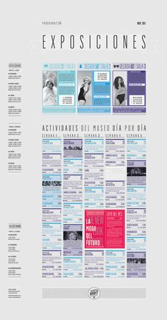 Page layout // Event program // Identidad - Museo Nacional de la Historia del Traje on Branding Served