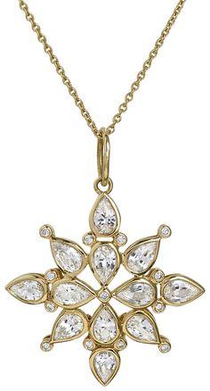 White sapphire and diamond pendant. www.darcyjewels.com