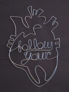 Follow Your Heart Wire Sculpture by TheTinkaTree on Etsy, $27.00