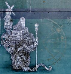 Wall paints, Muurschilderingen, Peintures Murales,Trompe-l'oeil, Graffiti, Murals, Street art.: Amsterdam - Netherlands. Monkeybird