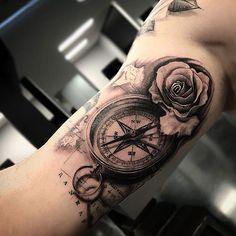 101 Best Inner Bicep Tattoos For Men: Cool Designs + Ideas Guide) - Inner Upper Arm Tattoo Ideas – Best Bicep Tattoos For Men: Cool Inner Arm Tattoo Designs and Idea - Inner Upper Arm Tattoos, Arm Tattoos For Women Upper, Rose Tattoos For Women, Cool Arm Tattoos, Cool Tattoos For Guys, Best Sleeve Tattoos, Small Tattoos, Inside Bicep Tattoo, Inner Bicep Tattoo