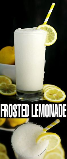 Frosted Lemonade //Frosted Lemonade is a dreamy way to enjoy a classic and delicious lemonade with a sweet twist. Tart creamy and cool this is the perfect summer drink! The post Frosted Lemonade appeared first on Summer Ideas. Smoothies Vegan, Smoothie Drinks, Smoothie Recipes, Drink Recipes, Sangria Recipes, Cupcake Recipes, Dessert Recipes, Non Alcoholic Drinks, Cocktail Drinks