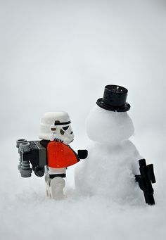 Sometimes, you just have to build a snowman #LEGO #Stormtrooper