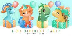 Train Illustration, Butterfly Illustration, Watercolor Illustration, Pink Wedding Invitations, Gold Wedding Stationery, Cute Dinosaur, Dinosaur Play, Dinosaur Cake Toppers, Baby Dino