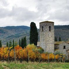 Castello di Spaltenna • Gaiole • Tuscany  It's the first day of September, we have autumn mood and the best place to enjoy autumn in Italy is magic Tuscany. We really recommend to visit in September and October area Gaiole in Chianti, one of the most beautiful and romantic zone of Tuscany. Here you can walk through gold wine yards and taste amazing chianti, fantastic local prosciutto and ribollita (bread soup). The perfect place for staying in Gaiole is the hotel Castello di Spaltenna. B...