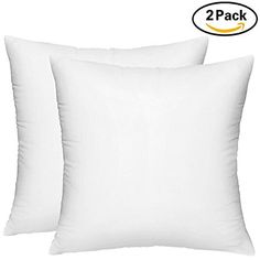 26X26 Pillow Insert Decorative Pillow Insert 2 Pack White  Square 18X18 Sofa And Bed