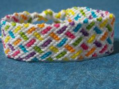 Zig Zag Block Rainbow Cotton Knotted by JustAlwaysCreative on Etsy, $9.00