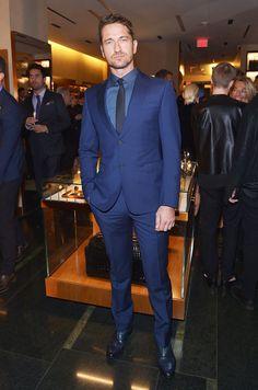 Gerard Butler at the Ermenegildo Zegna Beverly Hills Opening