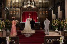 Holy Matrimony, Murdoch (Episode 804) Murdock and Julia kneel before the altar.