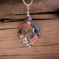 Color Wave Richly Colored Lampwork Glass & Bali by splashings, $60.00