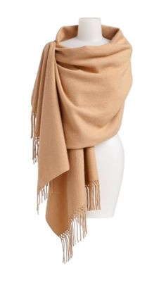 There's nothing more luxurious than an oversized cashmere wrap. I've had mine for years.