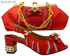 OLAMICH Women Italian Style Shoes with Matching Bag New Designer Glamour Shoe  Bag Set Italian Style 1f91d9e6ebff