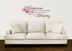 Love the wall decal above the couch <3