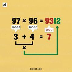 Nueve trucos simples de matemáticas que deseará que siempre se conocieron | Universo de ciencia-tecnología