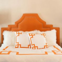 I pinned this Jill Sorensen Greek Key Duvet Cover in Orange from the Greek Key event at Joss and Main!
