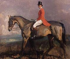 Officially extinct: Fox hunting (1534-2005)   season begins. Painting by Sir Alfred Munnings.