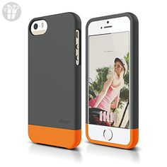 iPhone SE case, elago [Glide-Limited][Dark Gray / Orange] - [Mix and Match][Premium Armor][True Fit] - for iPhone SE/5/5S (*Amazon Partner-Link)