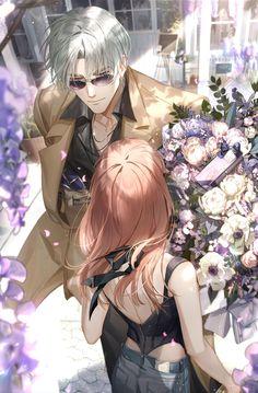 Romantic Anime Couples, Anime Couples Drawings, Anime Couples Manga, Cute Anime Couples, Cool Anime Girl, Kawaii Anime Girl, Anime Art Girl, Anime Red Hair, Fantasy Art Men