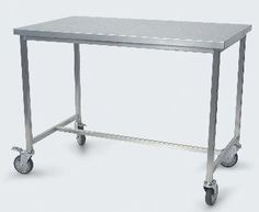 Stainless steel work table (on casters) 191AXCR SERIES Conf Industries