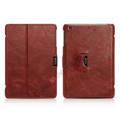 i-carer Vintage Series Genuine Leather Case with wake up/sleep For iPad Mini 2 Retina - Red US$48.99