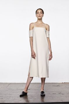 """You'll look like a """"real adult"""" in this fashion line    Forget all those sticky, wrinkly slip dresses you've tried to wear — this one puts them all to shame.Updownacross Crepe Cold Shoulder Slip Dress, $156, available at Updownacross...."""