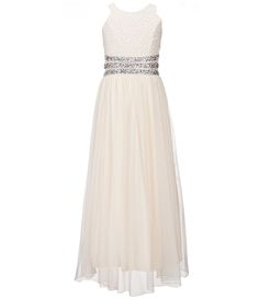 Shop for Xtraordinary Big Girls Glitter-Lace Beaded Maxi Dress at Dillards. Wedding Dresses For Kids, Dresses For Tweens, Formal Dresses For Teens, Girls Dresses, Flower Girl Dresses, Dress Formal, Bridesmade Dresses, Cute Prom Dresses, Pretty Dresses
