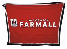 RED McCormick Deering Farmall Logo 63x53 Custom Knit Blanket