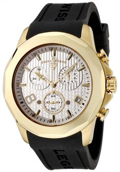 Price:$169.99 #watches SWISS LEGEND 40042-YG-02, Sporting an intricate design and subdial system, this Swiss Legend chronograph is precise on time and measurement.