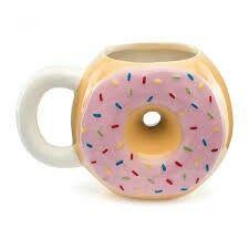 Hrníček na čaj * porcelán ve tvaru donutky.