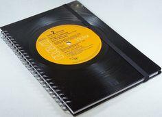 DIN A5 - Schallplatte Notizbuch Helen Schneider - ein Designerstück von Aurum bei DaWanda