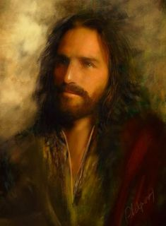 digital painting using an image of Jim Caviezel as reference. Pictures Of Jesus Christ, Jesus Christ Images, Jesus Our Savior, Jesus Is Lord, Religious Paintings, Religious Art, Catholic Art, Jesus Painting, Jesus Face
