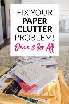 Organization Ideas clutter Conquer Mail Clutter Once and For All Do piles of paper form in your home over and over? This detailed post breaks down how to conquer the paper and mail clutter for good! Home Organization, Declutter, Organized Home Deep Cleaning Tips, House Cleaning Tips, Spring Cleaning, Cleaning Hacks, Diy Organizer, Clutter Organization, Paper Organization, Organizing Paper Clutter, Organizing Tips