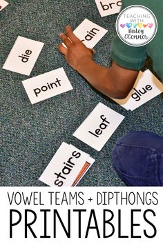 This 275-page packet includes centers, activities, word lists and printables to teach vowel teams and dipthongs in your kindergarten, 1st grade and 2nd grade classrooms! These games and activities are the perfect addition to your phonics instruction and can be used as a class activity or as literacy centers.