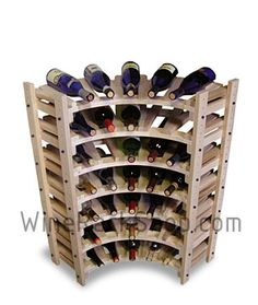 Inspirational Corner Wine Rack Cabinet