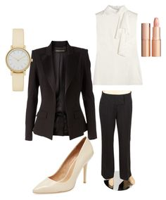"""""""Business casual"""" by chynadoll125 on Polyvore featuring Alexander McQueen, Alexandre Vauthier, Alberto Makali, Maiden Lane, Skagen and Charlotte Tilbury"""