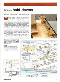 Table saw hold-down Wood Magazine Router - Tablesaw Jigs