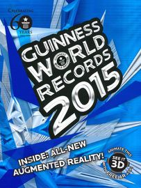 Guinness World Records 2015 | http://paperloveanddreams.com/book/918995248/guinness-world-records-2015 | With a fresh new design and feel inspired by innovations in tablet technology, the latest GUINNESS WORLD RECORDS book presents thousands of new and updated records, along with hundreds of amazing never-before-seen photographs. The 2015 edition showcases the very best of the most recent world records, with new subjects as diverse as castles, 3D printing, the search for alien life and the…