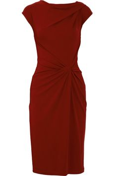 Michael Kors Draped Crepe-jersey Dress in Purple (merlot)