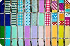 Dagens pyssel, tejpade klädnypor – Craft of the Day, washi tape pegs