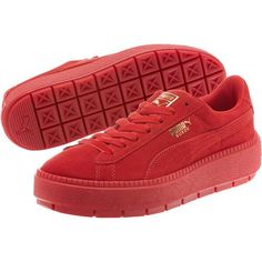 846ee2dde66 PUMA. SUEDE PLATFORM TRACE VALENTINE S DAY WOMEN S SNEAKERS - Red