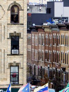 Houses in Bushwick, Brooklyn.