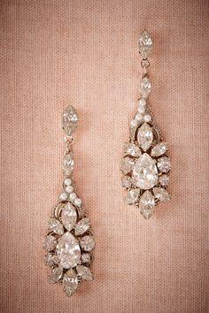 BHLDN Ballroom Chandelier Earrings $150.00  Bride Bridal Jewelry Earrings at BHLDN