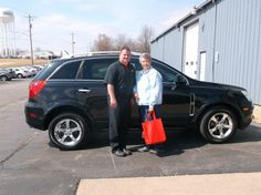 JOANNE PONTIOUS of Vandalia and her new 2013 CHEVROLET CAPTIVA ! Congratulations and best wishes from Hosick Motors, Inc. and Sales Pro Brian Major.