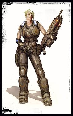 Gears of War 3 Concept Art (Character)     Gears 3 saw the first female characters.