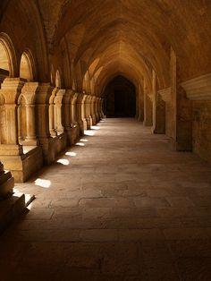 L'Abbaye de Fontenay : son Cloitre.  Un superbe exemple d'architecture.