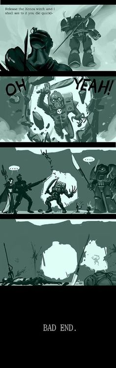 Eversor Assassins in a nutshell :) Warhammer 40k Memes, Warhammer Art, Warhammer Fantasy, Warhammer 40000, Dnd Funny, Fallout New Vegas Ncr, Writing Memes, Gamer Humor, Funny