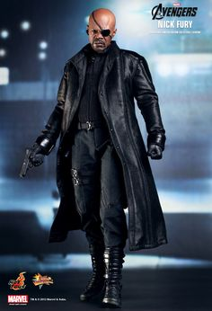 Hot Toys Hottoys Nick Fury The Avengers 1 6 Scale Action Figure Comic MMS169 | eBay