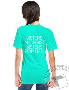 Kappa Phi - Sisters In Christ V-Neck by ABD BlockBuy! Available until 4/14, $18! | Adam Block Design | Custom Greek Apparel & Sorority Clothes |www.adamblockdesign.com
