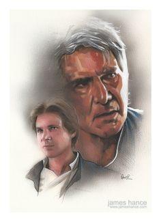 Original Painting by James Hance  Han Star Wars 12 x by JamesHance #StarWars #HanSolo