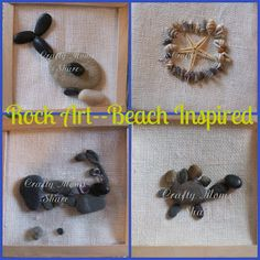 Beach Inspired Rock/Nature Art from Crafty Moms Share